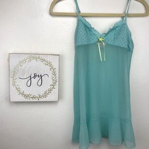 Victoria's secret teal babydoll size small